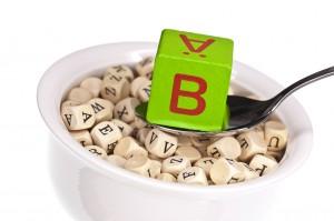 vitaminreiche Buchstabensuppe