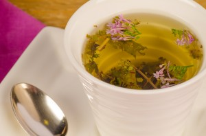 Herbal tea closeup